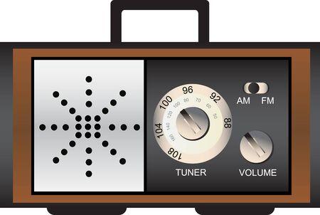 radio retr�: Vecchia radio retr� - illustrazione vettoriale