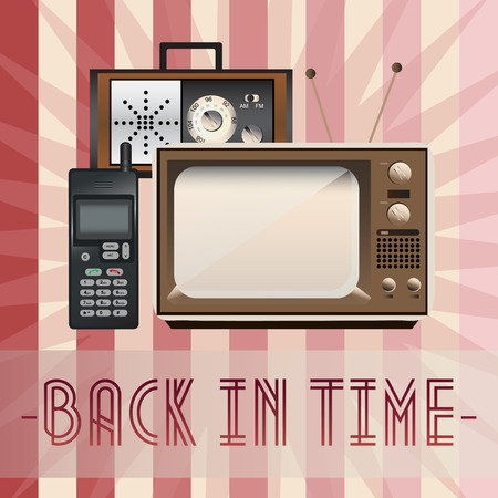 Retro, back in time Vector