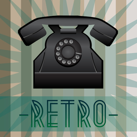 old fashioned: Retro telephone with old fashioned background