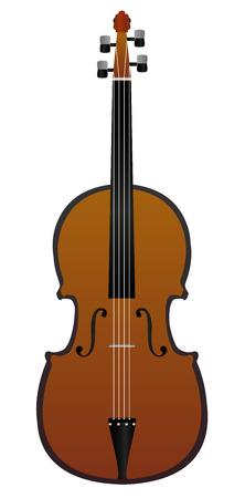 concerto:  Classic wooden violin