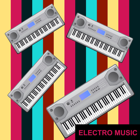dubstep: Electro music - abstract background with electric Pianos