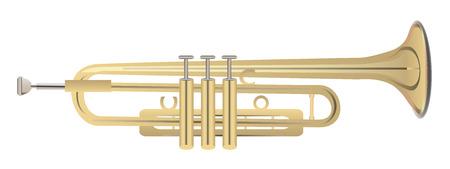 blaasinstrument: Illustratie van trompet - blaasinstrument Stock Illustratie