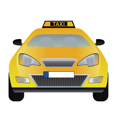 hackney carriage: illustration of taxi
