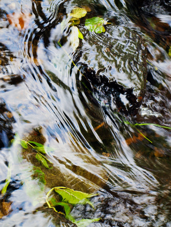 bourne: Flowing water in a mountain stream