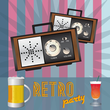 soiree: Retro party - back in time Illustration