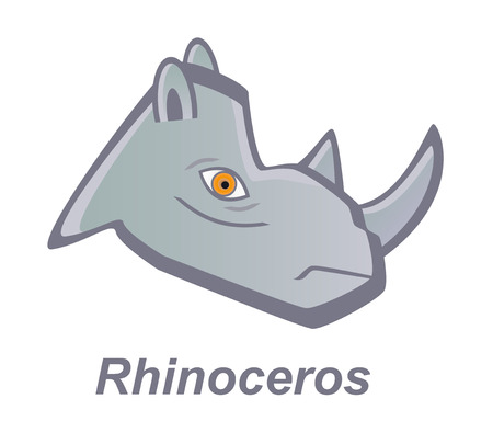 benign: Vector cartoon rhinoceros