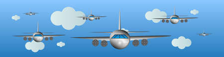 air show: Airplanes in the air - air show