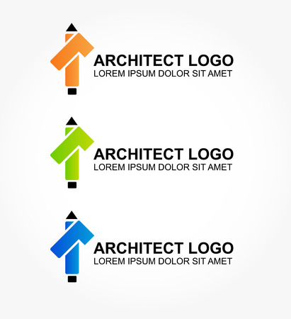 interiors: Logo for the architect or designer of home and interiors