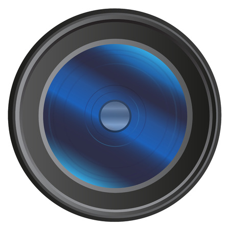 detachable: Modern camera lens isolated on white background