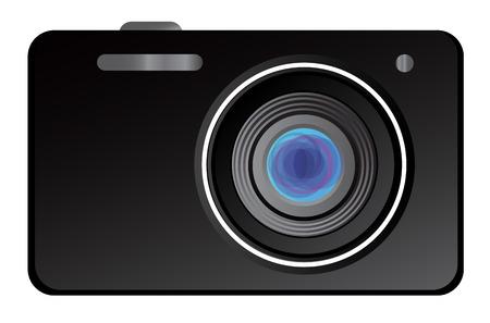 Vector illustratie van de klassieke digitale camera Stock Illustratie
