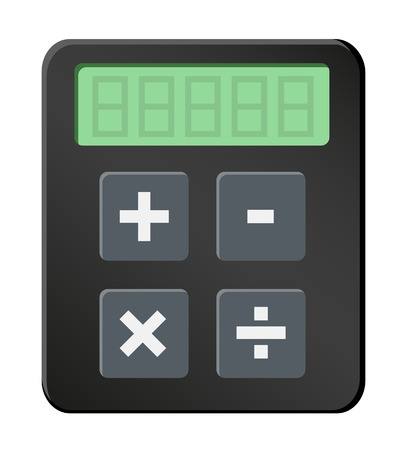 scholastic: Simple calculator icon Illustration