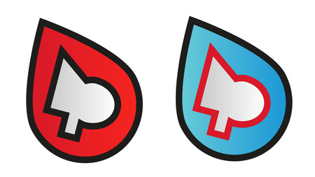 ci: Abstract logo design symbol in two color variants Illustration