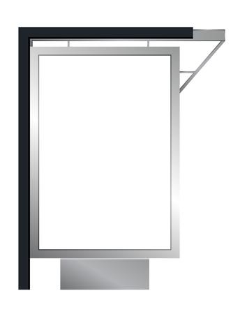 bilboard: Vector advertising billboard or citylight