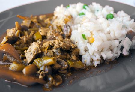 close up food: Vegetarian Indian food close up
