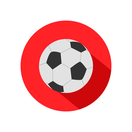 peat: Flat football icon with soccer ball