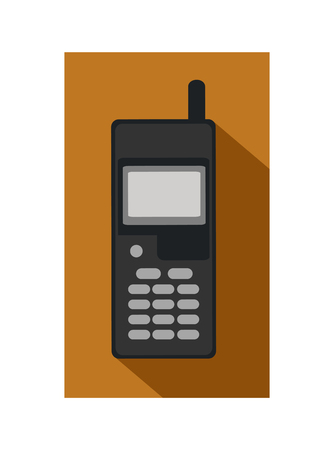 pensionary: Retro flat mobile phone icon