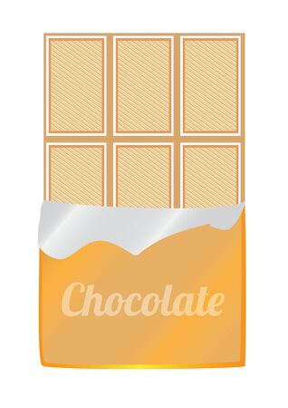 illustration of unpacked white chocolate