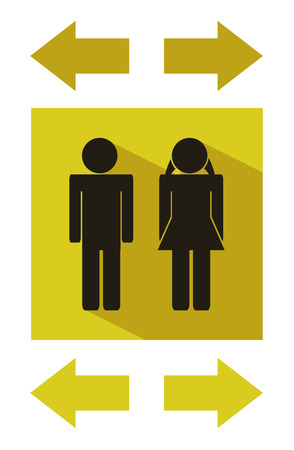 wc modern flat icons - Public toilets icon