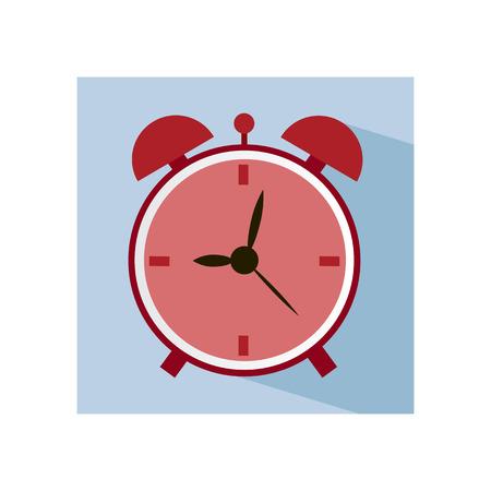 alarm clock: Flat modern icon of alarm clock