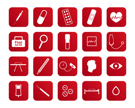 ambulant: Set of medical and health care icons