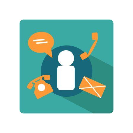 communicative: flat business template icon of communication
