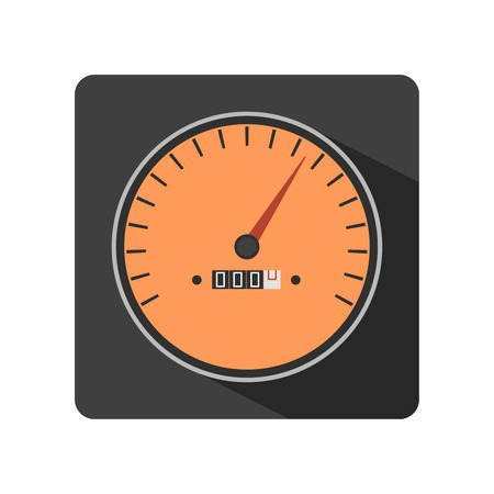 gauges: Illustration of flat speedometer gauges icon