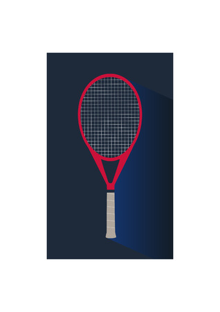 wickerwork: Tennis flat modern icon of tennis racket Illustration