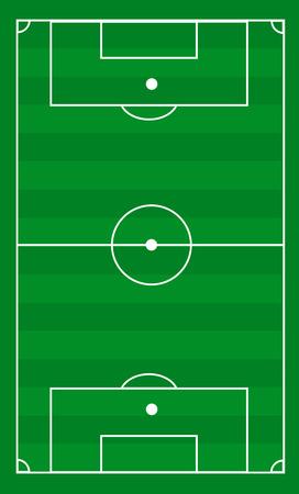 offside: Vector football field Illustration