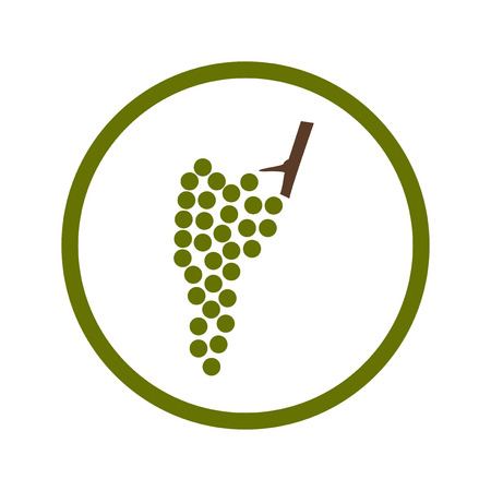 Wine grapes icon in green circle
