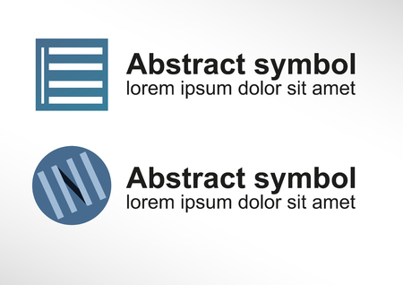 Abstract symbol  logo symbolizing Venetian blind in two variants