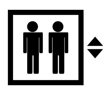 Vector black icon isolated on white background Vektorové ilustrace