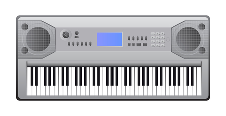 illustration of electric piano with keys