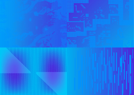 Set of four blue abstract backgrounds (A4 format). Иллюстрация