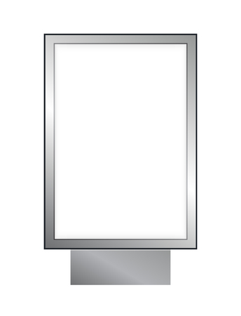 Blank lightbox lightbox isolated on white background. Mock up for your design or poster.