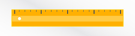 illustration of a modern icon of yellow ruler. School design. Suitable to school for geometry or math.