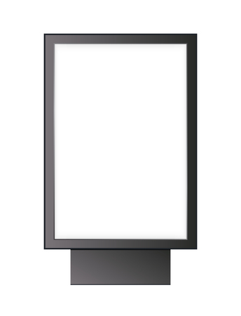 blank lightbox isolated on white background. Mock up for your poster.