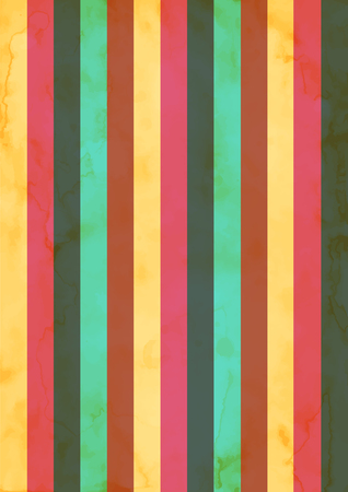 Striped retro color texture background. Yellow, pink, blue and green stripes. Vettoriali