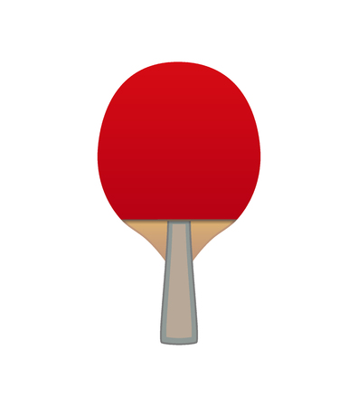 Vector table tennis bat with fast red surface isolated on white background.