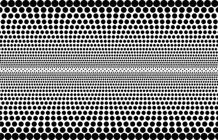 Vector abstract monochrome halftone pattern - perforated background consisting of individual dots.