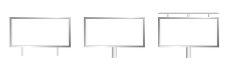 Vector blank billboard in three variants. Template for your print design. Form of printed advertising and marketing.