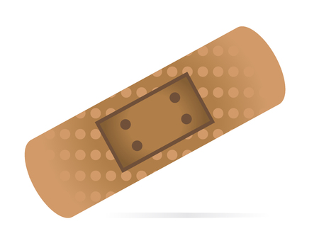 Vector illustration of medical bandage plaster - First aid for abrasions and gashes.