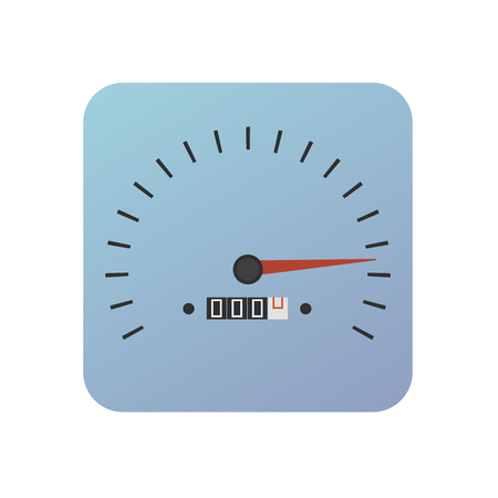 button with speedometer in blue color - icon of the application