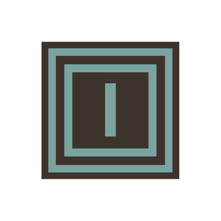 Vector symbol of letter Iota or I from the Greek alphabet.