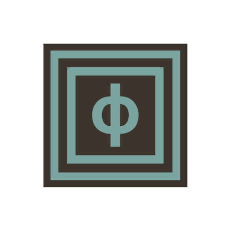 Vector symbol of small letter Phi from the Greek alphabet.