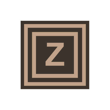 Vector symbol of letter Zeta or Z from the Greek alphabet. The icon is isolated on a white background. Stock Illustratie