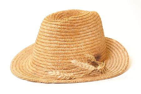 resistol: Sombrero de paja aislados Foto de archivo