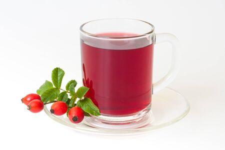 Cup of rosehip tea photo