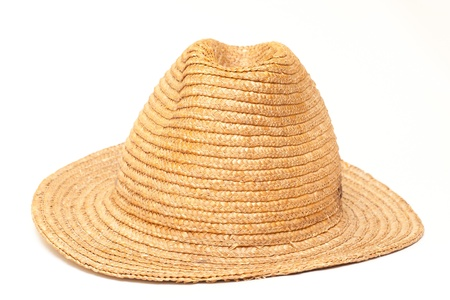 resistol: Sombrero de paja aislado