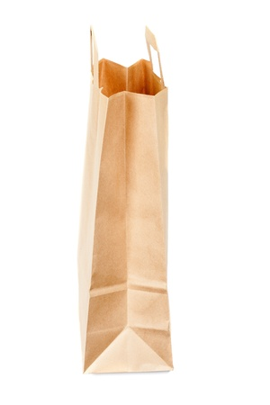 commercial recycling: Recyclable paper bags isolated on white background  Stock Photo