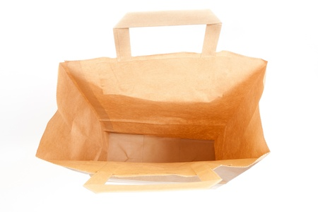 Recyclable paper bags isolated on white background  Stock Photo - 12525767